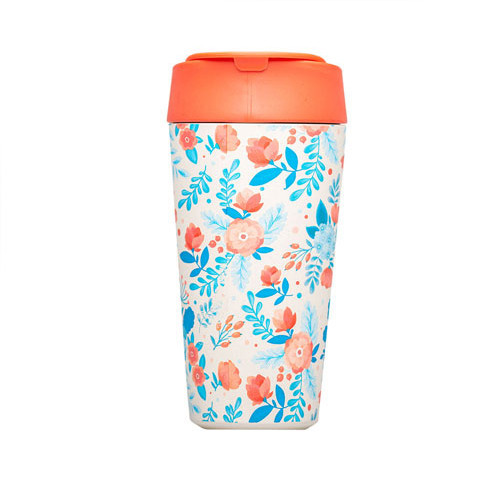Becher Deluxe RED AND BLUE FLOWERS