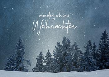Weihnachtskarte 8166 wunderschöne Weihnachten