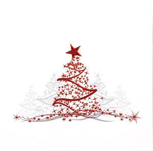 Weihnachtskarte 8397 mit rotem Baum