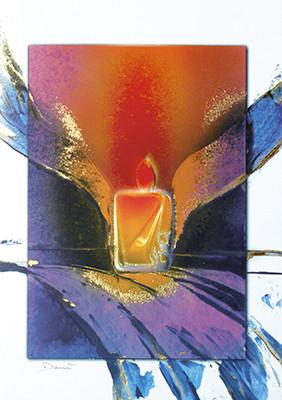 Weihnachtskarte 8515 Kunst Kerze