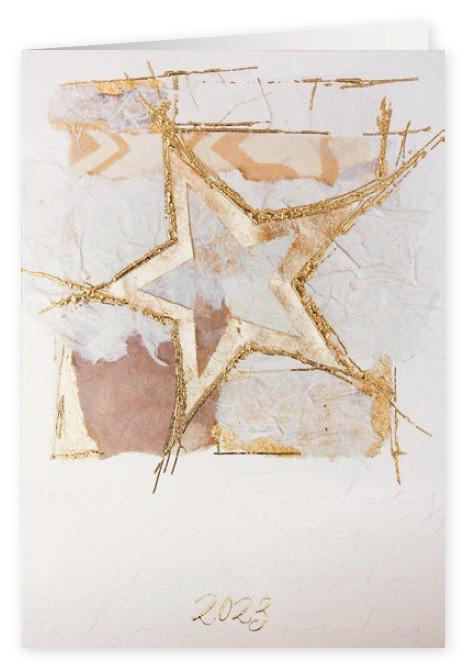 Weihnachtskarte 8833 goldener Kunst-Stern