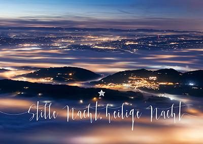 Weihnachtskarte 8912 Aussicht Rigi Kulm