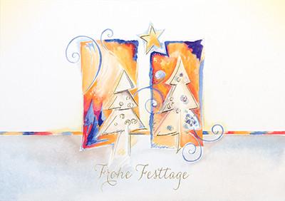 Weihnachtskarte 8917 Frohe Festtage