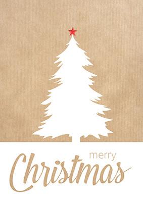 Weihnachtskarte 8922 mit Kraftpapier-Optik