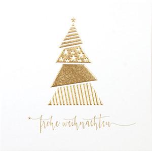 Weihnachtskarte 8923 Baum mit Strukturen