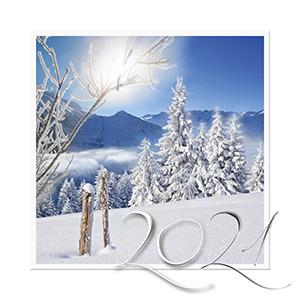 Weihnachtskarte 8924 Winterlandschaft