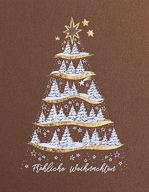 Weihnachtskarte 8927 verschneite Tannenbäume