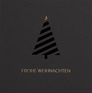 Weihnachtskarte 8928 schwarz mit Gold