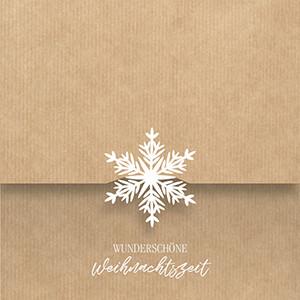 Weihnachtskarte 8937 Laserstanzung Schneeflocke
