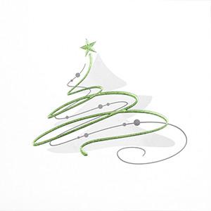 Weihnachtskarte 8941 grüner Baum