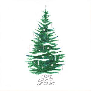Weihnachtskarte 8943 Tannenbaum mit Kerzen