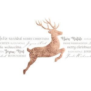 Weihnachtskarte 8950 mit Rentier