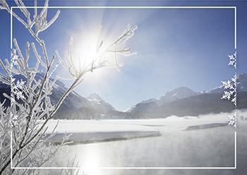 Weihnachtskarte 8157 Blauer Himmel