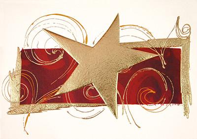 Weihnachtskarte 8220 goldener Stern