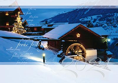 Weihnachtskarte 8368 Val d´Anniviers, VS