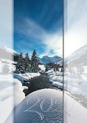 Weihnachtskarte 8378 Sertigtal bei Davos, GR