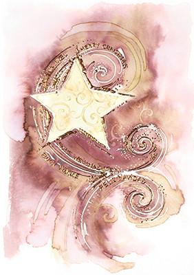 Weihnachtskarte 8618 Kunst mit Stern