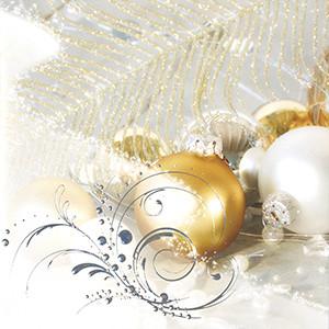 Weihnachtskarte 8623 Weihnachtskugeln