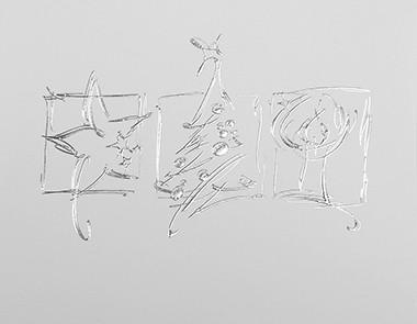 Weihnachtskarte 8702 Silberprägung