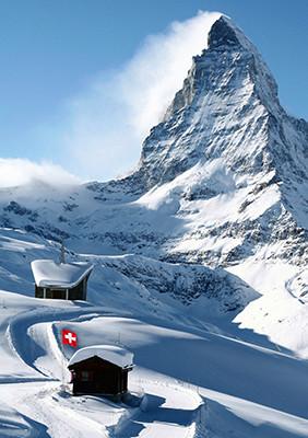 Weihnachtskarte 8717 Winter in Zermatt