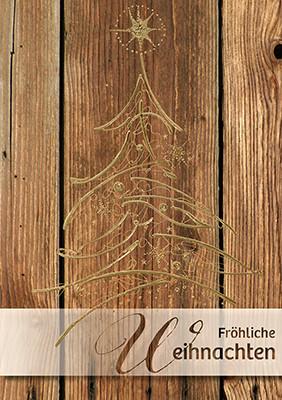 Weihnachtskarte 8797 mit Holz-Optik