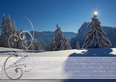 Weihnachtskarte 8802 Ibergeregg, SZ