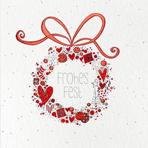 Weihnachtskarte 8817 mit Weihnachtskranz