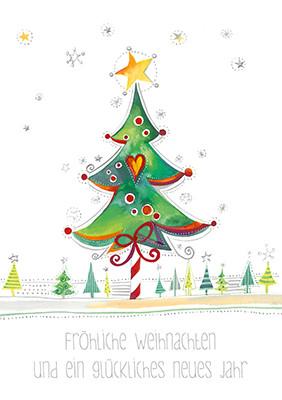 Weihnachtskarte 8818 mit Weihnachtsbaum
