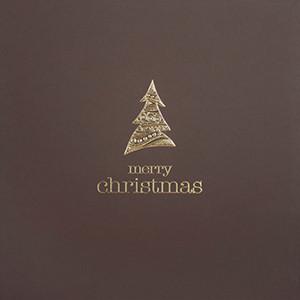 Weihnachtskarte 8830 braun mit Goldbaum