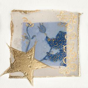 Weihnachtskarte 8832 Kunst mit Goldstern