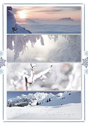 Weihnachtskarte 8840 Winter-Collage