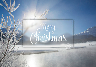 Weihnachtskarte 8846 Inn bei Celerina, GR