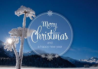 Weihnachtskarte 8847 Silvaplana, GR