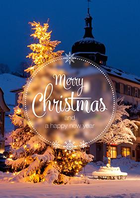 Weihnachtskarte 8859 mit Weihnachtsbaum