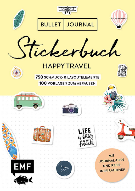 Bullet Journal Happy Travel Stickerbuch
