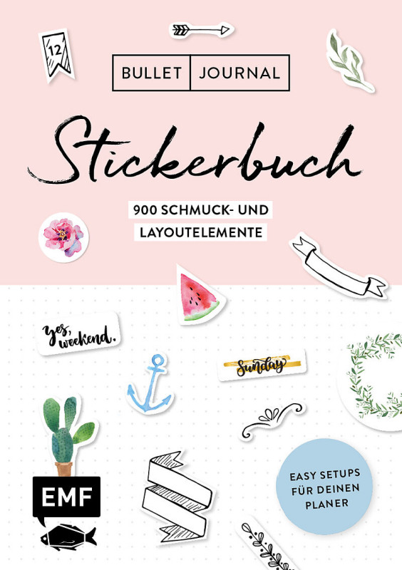 Bullet Journal Schmuck+Layout Stickerbuch