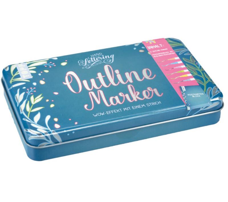 Outline Marker Metall-Etui/à 6 Stk