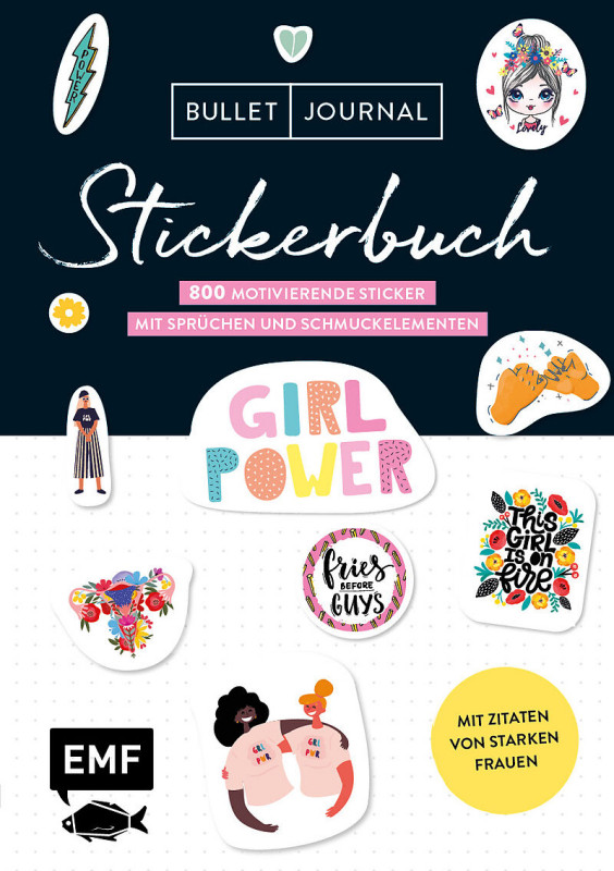 Bullet Journal - Stickerbuch: Girlpower