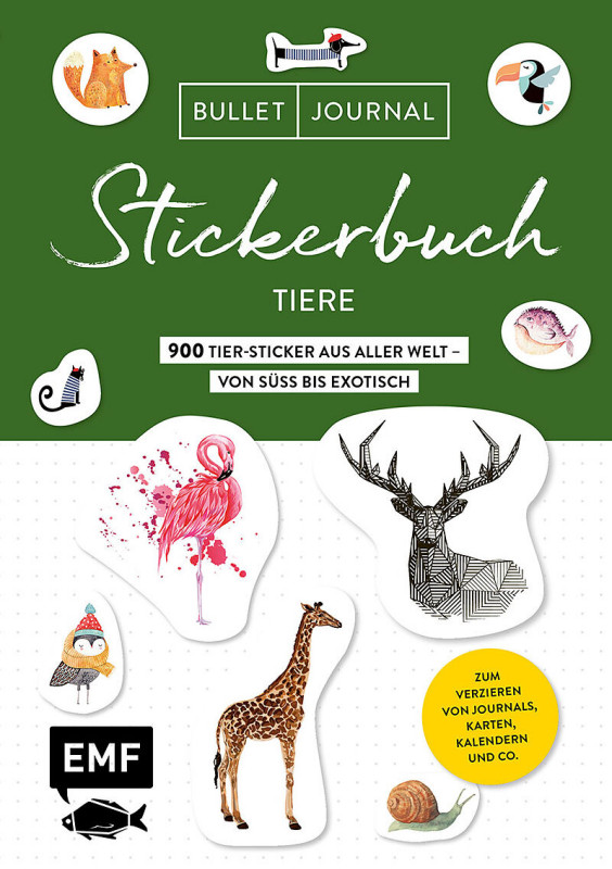 Bullet Journal - Stickerbuch: Tiere